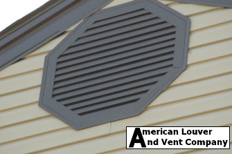 Octagon Gable Vent - Musket Brown