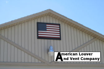 38 in. w x 27 in. h American Flag Gable Vent