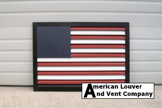 American Flag Rectangle Gable Vent