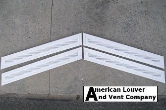 Chevron style gable vents