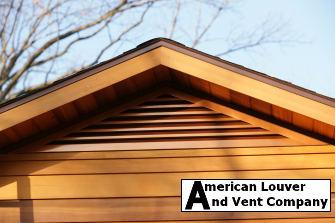 Copper tone triangle gable vent