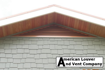 5/12 pitch, 8' base Copper tone triangle gable vent
