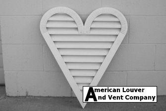 Heart Shape Gable Vent