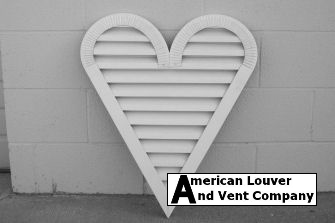 Heart Shape Gable Vent