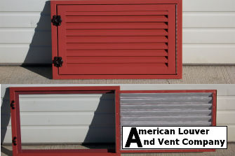 Hinged Gable Vent - Certainteed: Barn Red