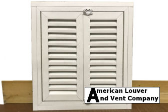 Hinged Gable Vent With French Doors
