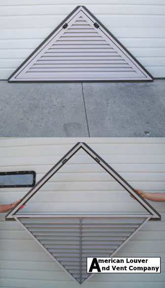 Hinged Triangle Gable Vent