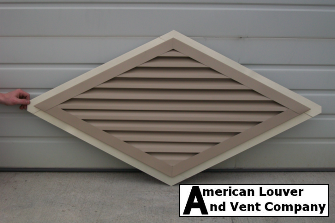 Horizontal Diamond Gable Vent
