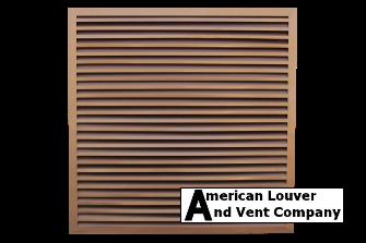 Square Gable Vent, Designer Copper