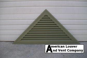 Triangle Gable Vent Mastic: Lakeshore Fern