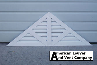 triangle gable vent with spokes