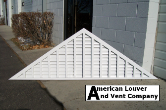 Triangle Gable vent with Vertical Mullions