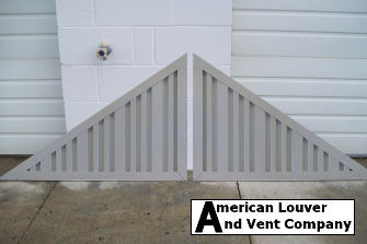 Non-Functional Vertical Triangle Gable Vents