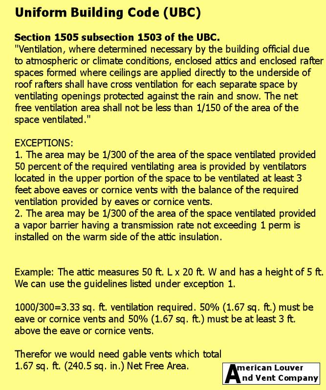 UBC Attic Ventillation