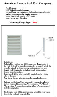 """mounting flange option """"none"""""""