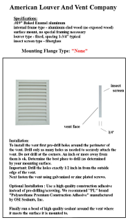 "mounting flange option ""none"""