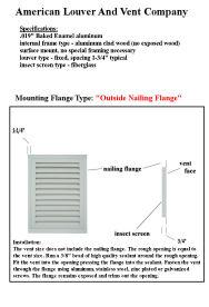 Outside Nailing flange