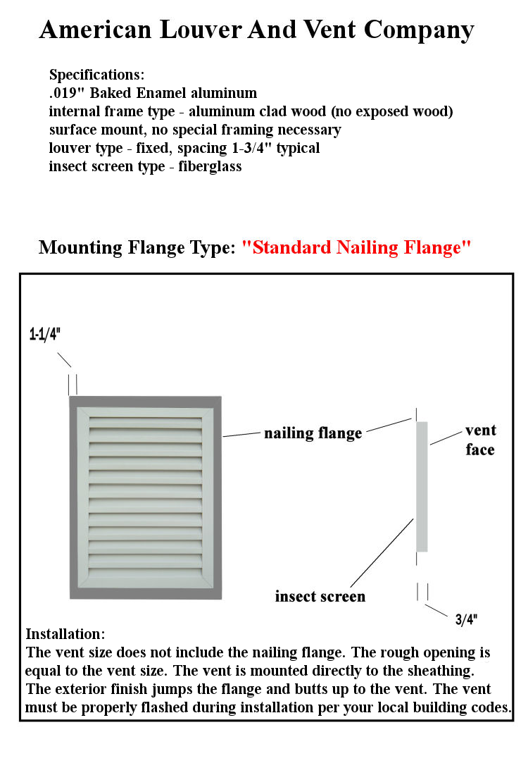 gable vent info american louver and vent company