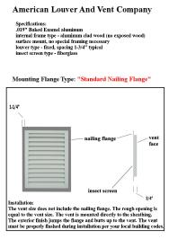 Standard Nailing flange