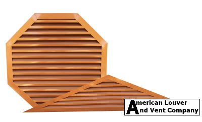 Copper Tone Gable Attic Vents