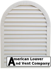 Round Top Gable Vent - Tombstone Gable Vent